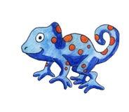 Blue Chameleon With Orange Spots vector illustration