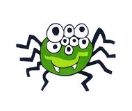 Adorable Green Spider royalty free illustration