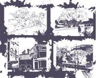Free Handmade Illustration Of A Sity Stock Photos - 8234793