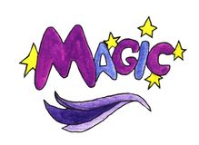 The Watercolor Symbol Of Magic royalty free illustration
