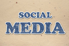 Handmade insciption social media Stock Photos