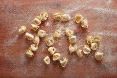 Handmade italian tortellini pasta Royalty Free Stock Images