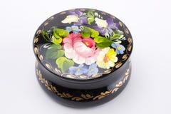 Handmade jewellery box. Traditional ukrainian handmade jewellery box Royalty Free Stock Images