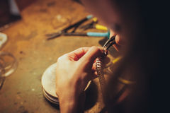 The handmade jewellery Royalty Free Stock Photo