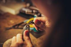 The handmade jewellery Stock Photo