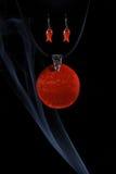 Handmade jewellery and smoke Royalty Free Stock Photo