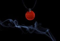 Handmade jewellery and smoke Royalty Free Stock Photography