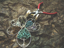 Handmade jewellery tree of life Royalty Free Stock Images