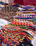 Handmade jewelry. Colorful handmade jewelry for sale at the local market Royalty Free Stock Photos