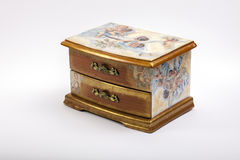 Handmade jewelry box royalty free stock images