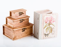 Handmade jewelry box Royalty Free Stock Photo