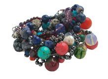 Handmade jewelry made from semiprecious stones. stock images