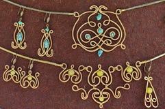 Handmade jewelry set Royalty Free Stock Photos