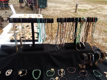 Handmade Jewelry. Setup in Mulberry Florida Stock Photography