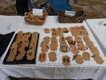 Handmade Jewelry. Setup in Mulberry Florida stock photo