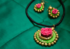 Handmade jewelry Stock Photography