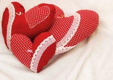 Handmade jewelry on Valentine`s Day Royalty Free Stock Image