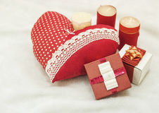 Handmade jewelry on Valentine`s Day Stock Image