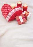 Handmade jewelry on Valentine`s Day Royalty Free Stock Photo