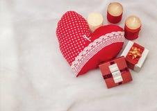 Handmade jewelry on Valentine`s Day Stock Images