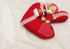 Handmade jewelry on Valentine`s Day Stock Photo