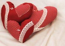Handmade jewelry on Valentine`s Day Royalty Free Stock Photos