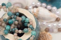 Handmade jewerly selective focus. Closeup stock photos