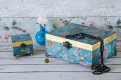 Handmade Jewllery Boxes Stock Image