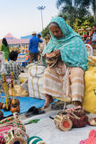Handmade jute bags , Indian handicrafts fair at Kolkata Royalty Free Stock Images