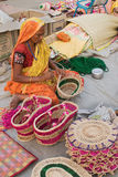 Handmade jute bags , Indian handicrafts fair at Kolkata Royalty Free Stock Image