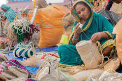Handmade jute bags , Indian handicrafts fair at Kolkata Royalty Free Stock Photography