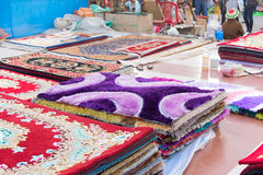 Handmade jute carpets , Indian handicrafts fair at Kolkata Stock Image
