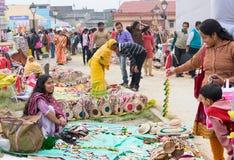 Handmade jute dolls , Indian handicrafts fair at Kolkata Royalty Free Stock Photography