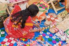 Handmade jute dolls , Indian handicrafts fair at Kolkata Stock Photography