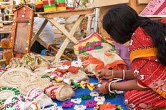 Handmade jute dolls , Indian handicrafts fair at Kolkata Stock Images