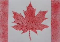 Handmade karta z akwarelą zapina Canada dzień ikony ustawiać Zdjęcia Royalty Free