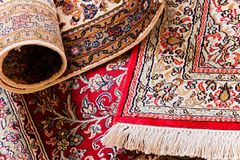 Free Handmade Kashmil Silk Carpets Stock Photography - 111653212