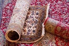 Handmade Kashmir carpets Stock Image