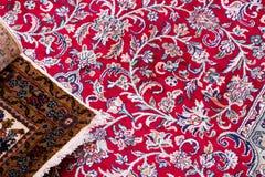 handmade kashmil silk carpets Royalty Free Stock Photos