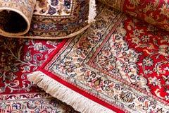 Handmade Kashmir carpets Stock Photos