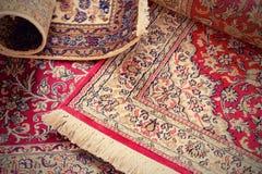 Handmade Kashmir silk carpets Royalty Free Stock Photo