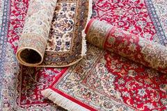 Handmade Kashmir silk carpets Stock Photography