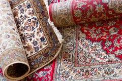 handmade kashmir silk carpets Stock Photo