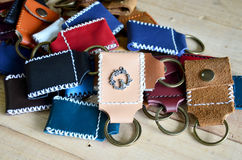 Handmade key ring made from leather Royalty Free Stock Image