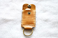 Handmade key ring and small bag Royalty Free Stock Image
