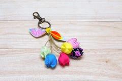Handmade Keychain Tulip. Royalty Free Stock Photos