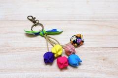 Handmade Keychain Tulip. Stock Photography