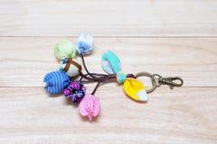 Handmade Keychain Tulip. Stock Photo