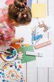 Handmade for kids. Active art childhood Stock Photo