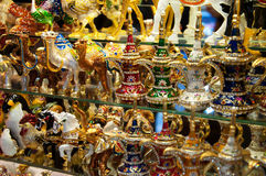 Handmade knickknacks on the grand bazaar in istanbul Royalty Free Stock Images